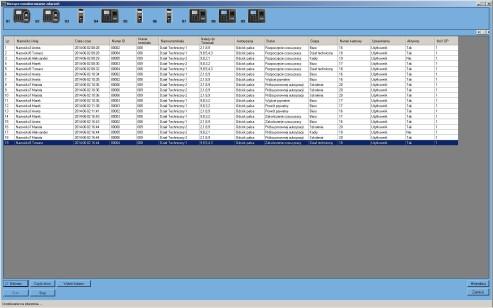 Widok okna głównego modułu Bieżące monitorowanie zdarzeń KD/RCP