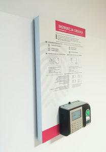 Czytnik na karty do celów rejestracji czasu pracy