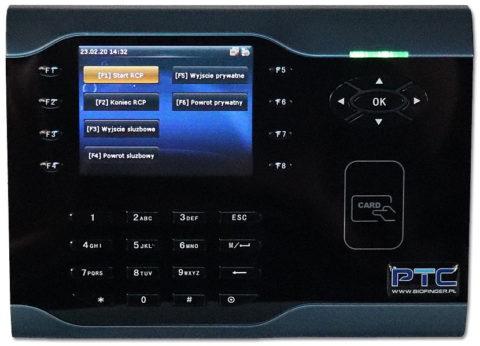 Rejestrator czasu pracy na karty zbliżeniowe RFID.S500