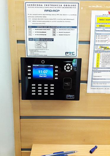Rejestrator czasu pracy RFID.S880